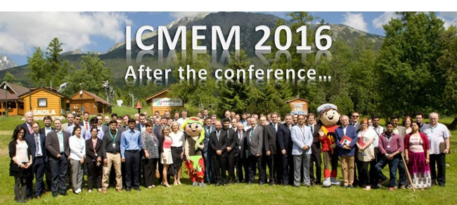 News : ICMEM 2016, Slovakia - after the conference...